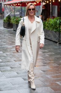 Amanda Holden in a White Coat