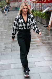 Ashley Roberts in a Black Pants