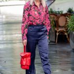 Ashley Roberts in a Floral Blouse Leaves the Heart Radio in London 09/29/2020