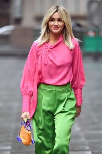 Ashley Roberts in a Pink Blouse