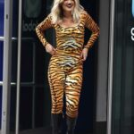 Ashley Roberts in a Tiger Print Catsuit Leaves the Heart Radio in London 10/30/2020
