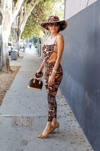 Blanca Blanco in an Animal Print Outfit