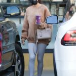 Chantel Jeffries in a Grey Leggings Was Seen Out in West Hollywood 10/28/2020