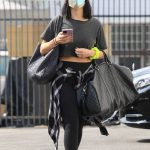 Cheryl Burke in a Black Cap Arrives for Practice at the DWTS Studio in Los Angeles 10/09/2020