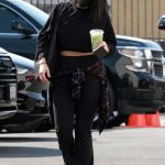 Cheryl Burke in a Black Outfit Heads to the DWTS Studio in Los Angeles 10/04/2020