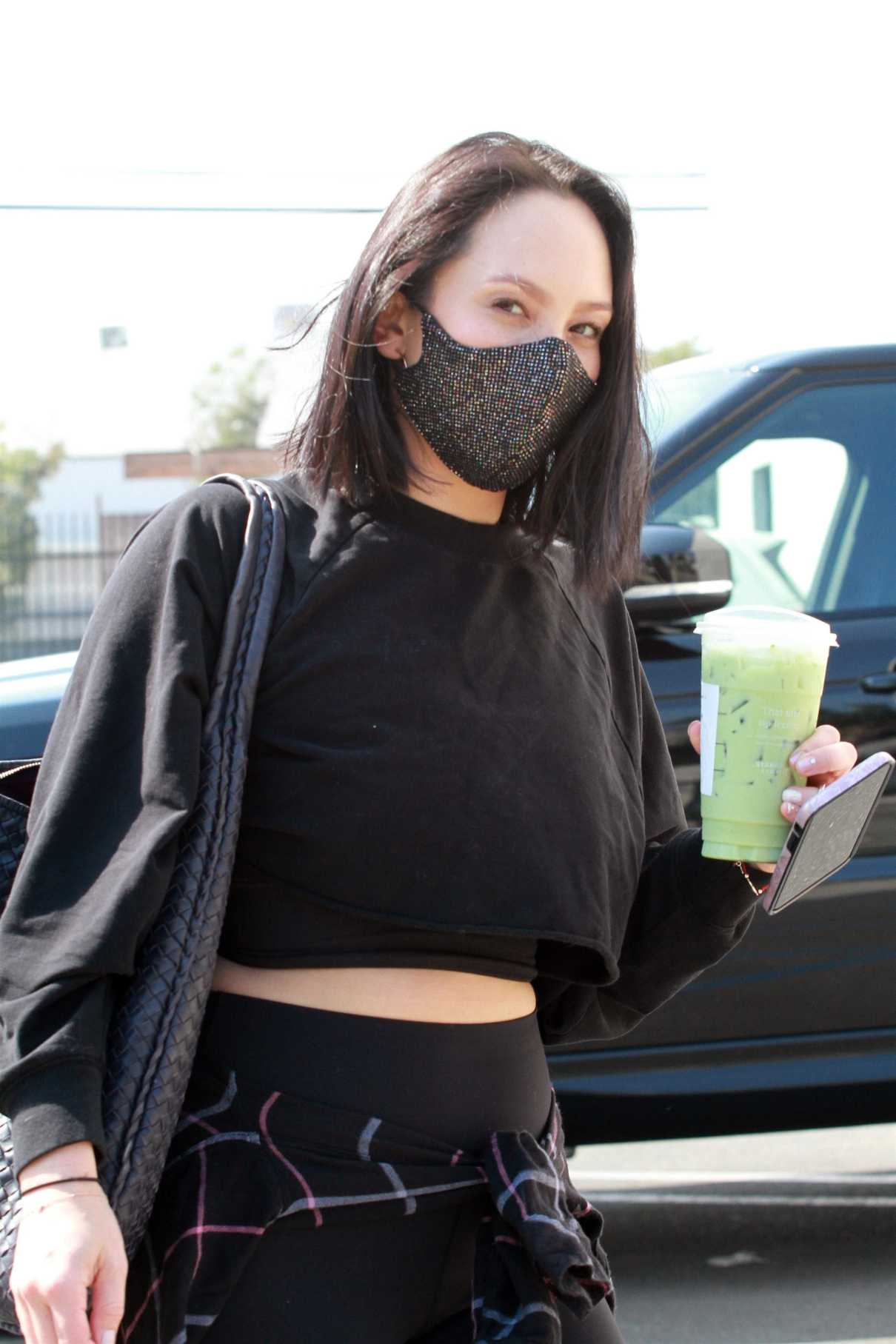 Cheryl Burke in a Black Outfit