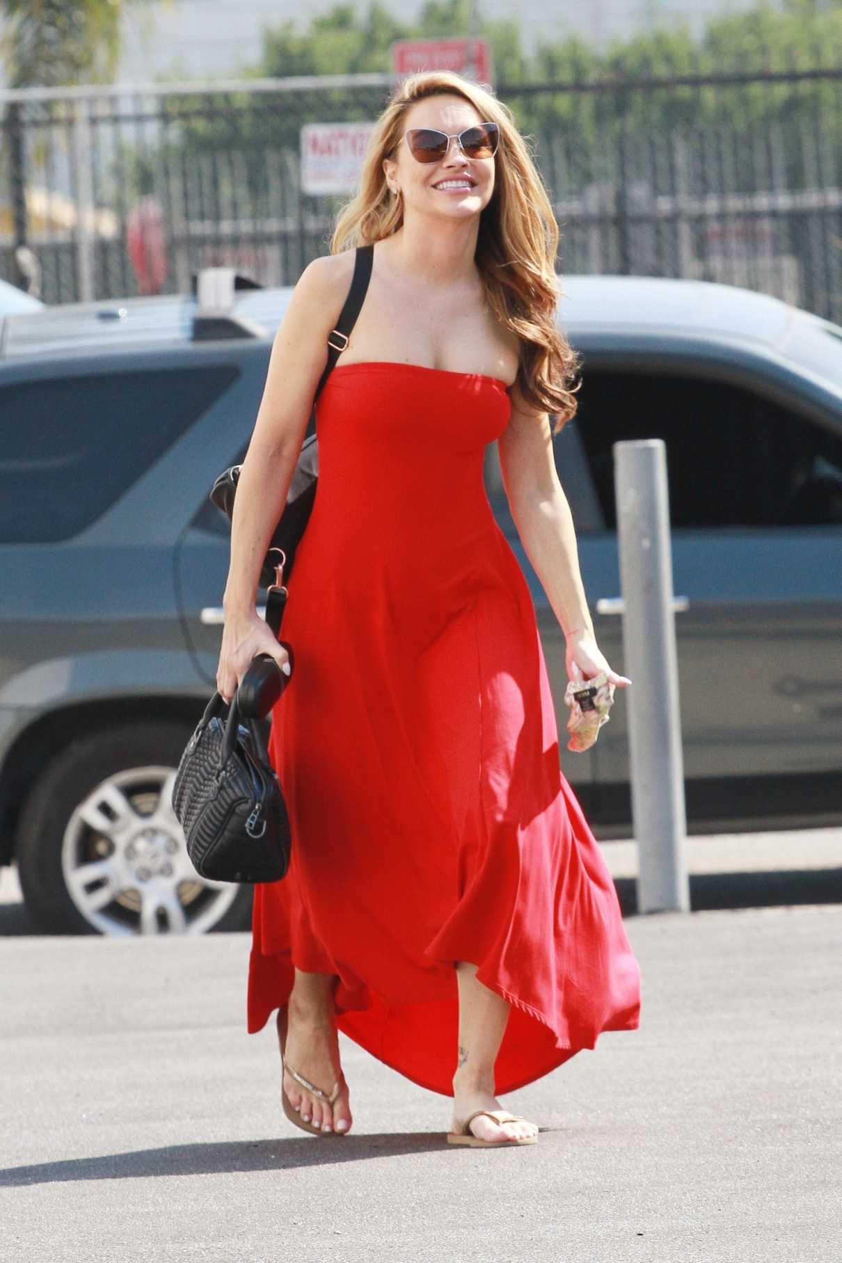 Chrishell Stause in a Red Dress