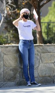 Cobie Smulders in a White Tee