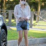 Dakota Fanning in a White Shirt Was Seen Out in Los Angeles 10/13/2020