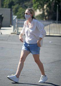Dakota Fanning in a White Shirt