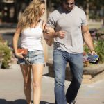 Denise Richards in a White Top Was Seen Out with Her Husband in Calabasas 10/15/2020