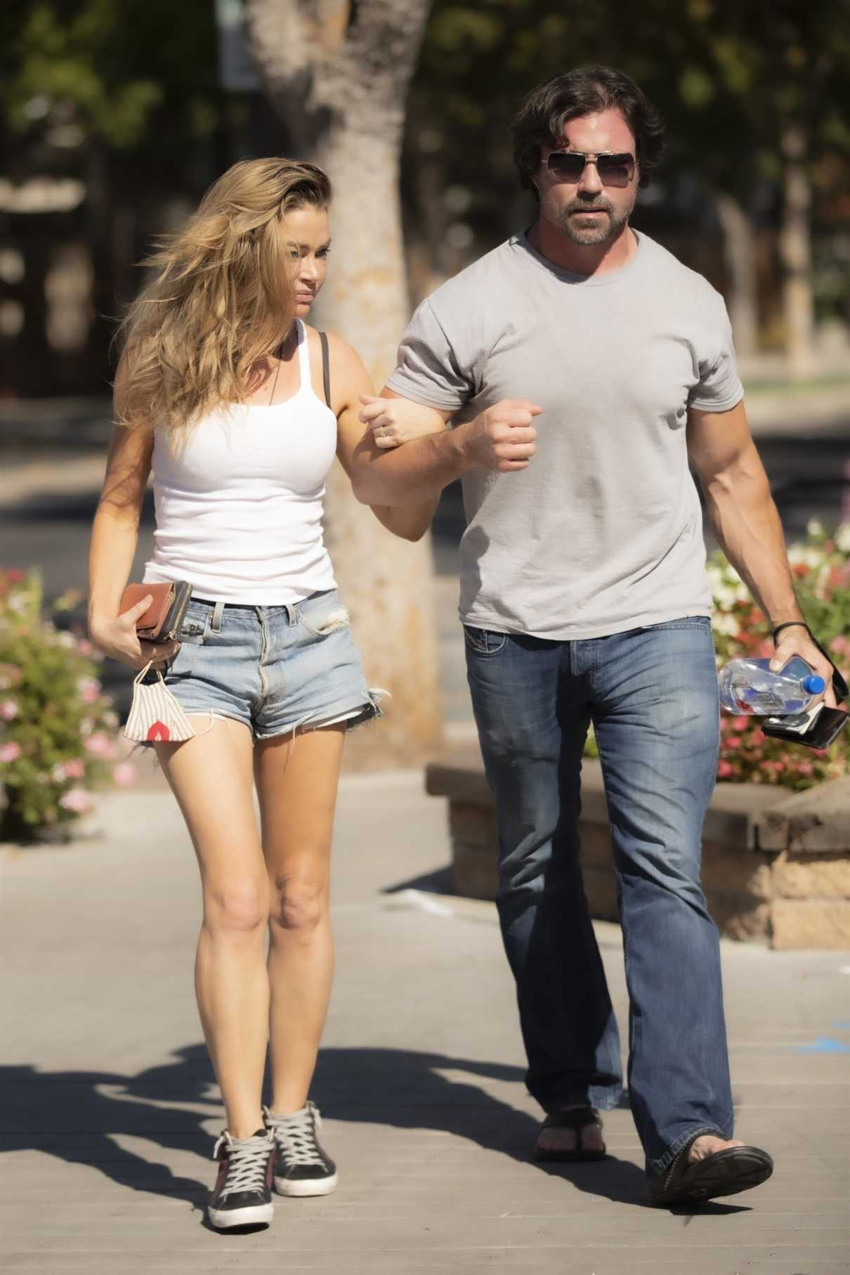 Denise Richards in a White Top