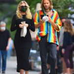 Elsa Hosk in a Black Dress Was Seen Out with Tom Daly in New York 09/29/2020