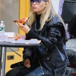 Elsa Hosk in a Black Leather Jacket Has a Pizza Craving in Manhattan's Soho Area 10/09/2020