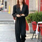Emily Ratajkowski in a Black Suit Was Seen Out in Tribeca, NYC 10/07/2020
