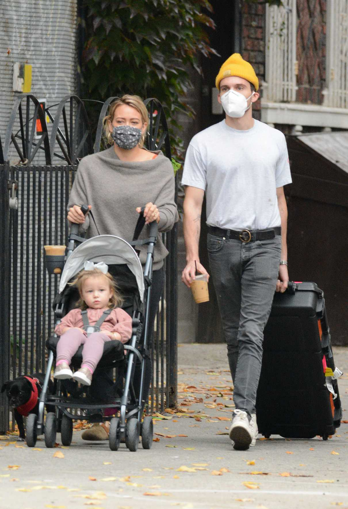Hilary Duff in a Protective Mask