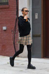 Irina Shayk in a Black Hoody