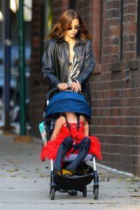 Irina Shayk in a Black Jacket