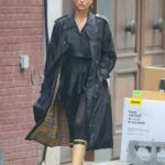 Irina Shayk in a Black Trench Coat Was Seen Out in New York City 10/28/2020