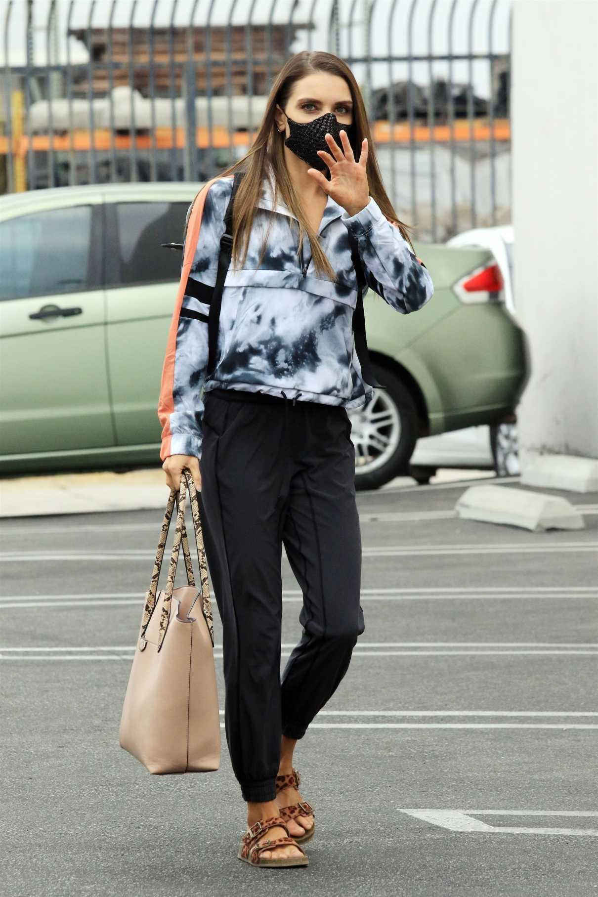 Jenna Johnson in a Black Track Pants