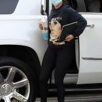 Jennifer Lopez in a Black Leggings Arrives at a Business Meeting in Beverly Hills 10/15/2020