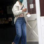 Jordana Brewster in a Green Protective Mask Was Seen Out in Brentwood 10/11/2020