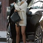 Jordana Brewster in a White Cardigan Was Seen Out in Pacific Palisades 10/16/2020