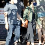 Jordana Brewster in an Olive Jacket Was Seen Out with Her Boyfriend in West Hollywood 10/28/2020