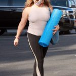 Justina Machado in a Beige Tank Top Heads to the DWTS Studio in Los Angeles 10/14/2020