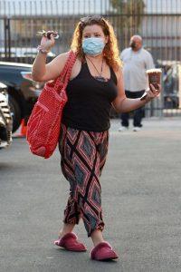 Justina Machado in a Protective Mask
