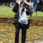 Kaley Cuoco in a Black Puffer Jacket Was Seen Out in Toronto 10/26/2020