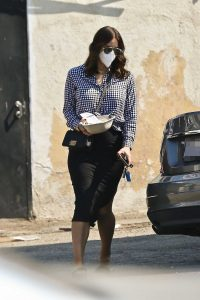 Katharine McPhee in a Protective Mask