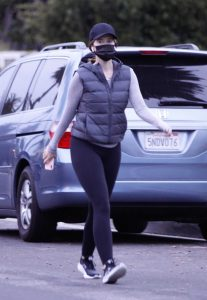 Katherine Schwarzenegger in a Black Cap