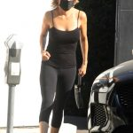 Lisa Rinna in a Black Top Leaves a Hair Salon in West Hollywood 10/07/2020