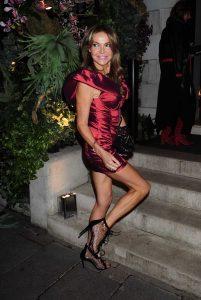 Lizzie Cundy in a Red Dress
