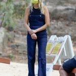 Malin Akerman in a Denim Jumpsuit Was Seen at Griffith Park in Los Angeles 10/07/2020