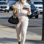 Mischa Barton in a Beige Sweatsuit Was Seen Out in Los Angeles 09/30/2020