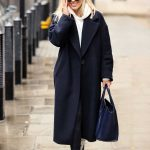 Mollie King in a Black Coat Arrives at BBC Radio 1 Studio in London 10/04/2020