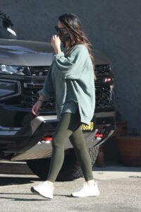 Olivia Munn in an Olive Leggings