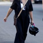 Sarah Michelle Gellar in a Black Dress Was Seen Out in Los Angeles 10/18/2020
