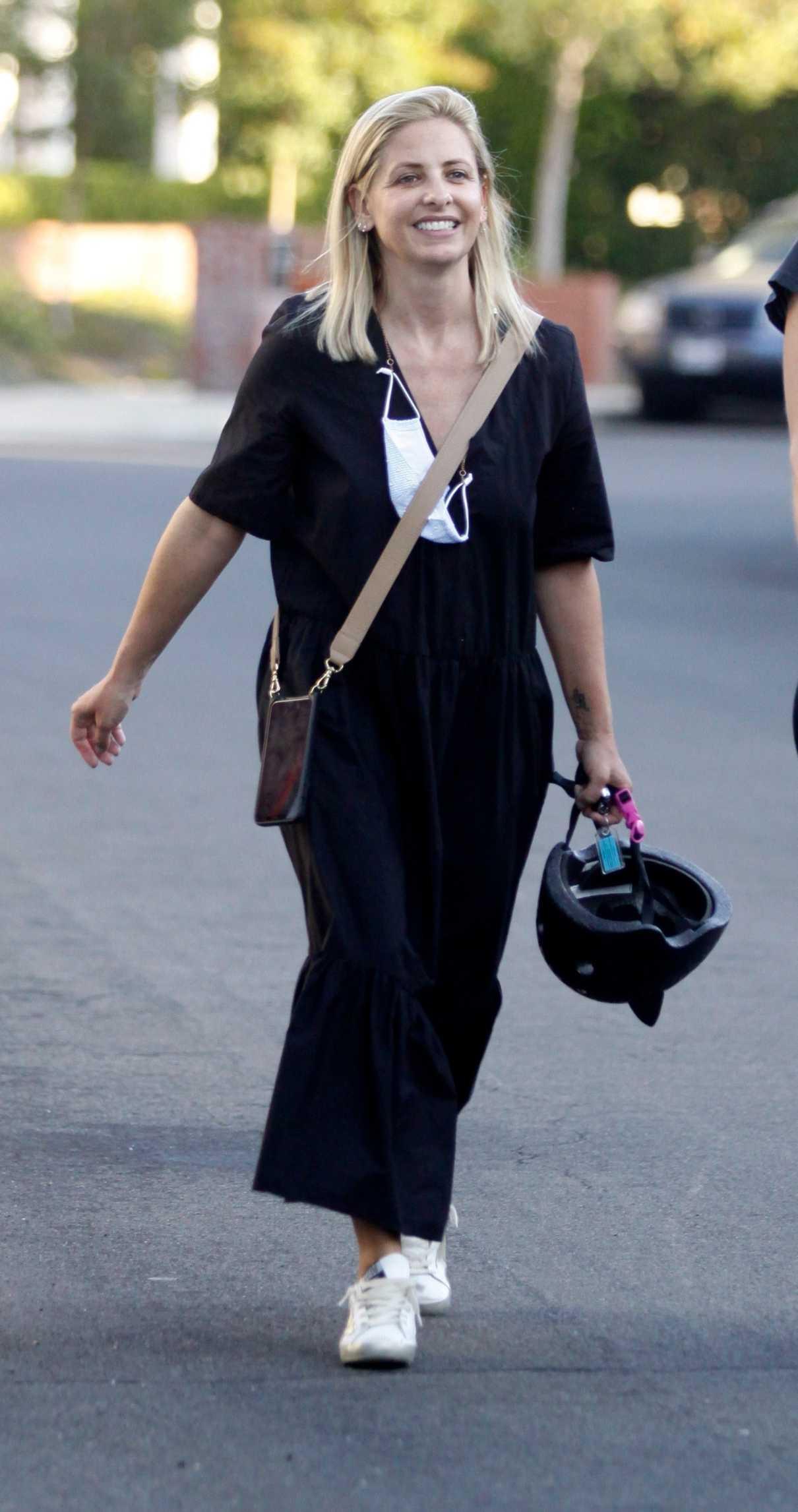 Sarah Michelle Gellar in a Black Dress