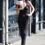 Scout Willis in a Black Cap Goes on a Solo Coffee Run in Los Feliz 10/07/2020