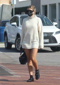 Sofia Richie in a White Sweater