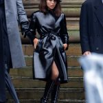 Zoe Kravitz in a Black Trench Coat Was Spotted on The Batman Set in Liverpool 10/12/2020