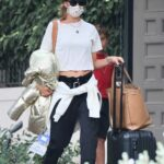 Alessandra Ambrosio in a Black Cap Was Seen Out in Los Angeles 11/06/2020