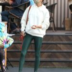 Alessandra Ambrosio in a White Hoodie Was Seen Out in Los Angeles 11/10/2020