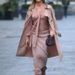 Amanda Holden in a Beige Trench Coat Leaves the Global Studios in London 11/05/2020