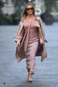 Amanda Holden in a Beige Trench Coat
