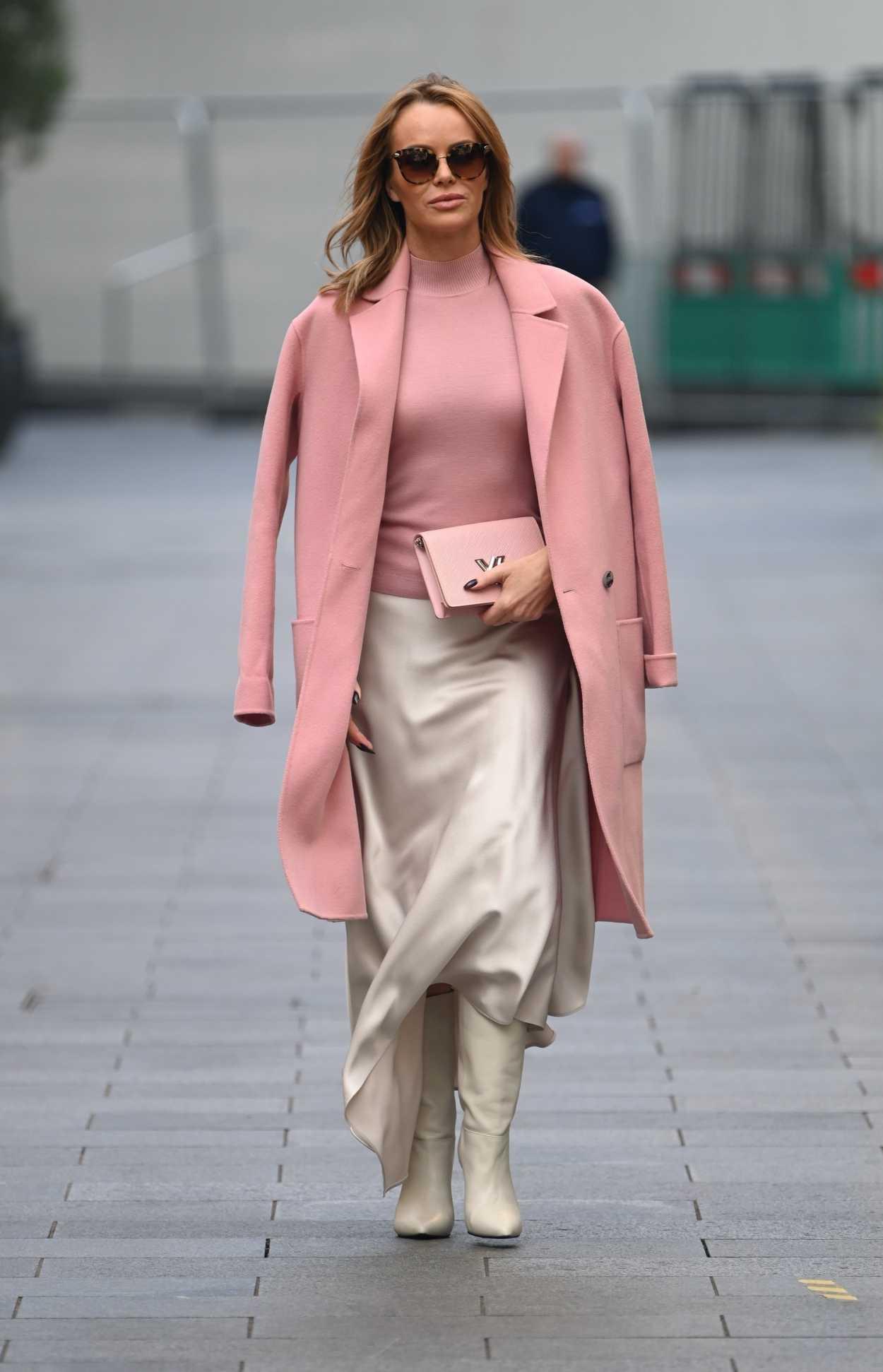 Amanda Holden in a Pink Coat