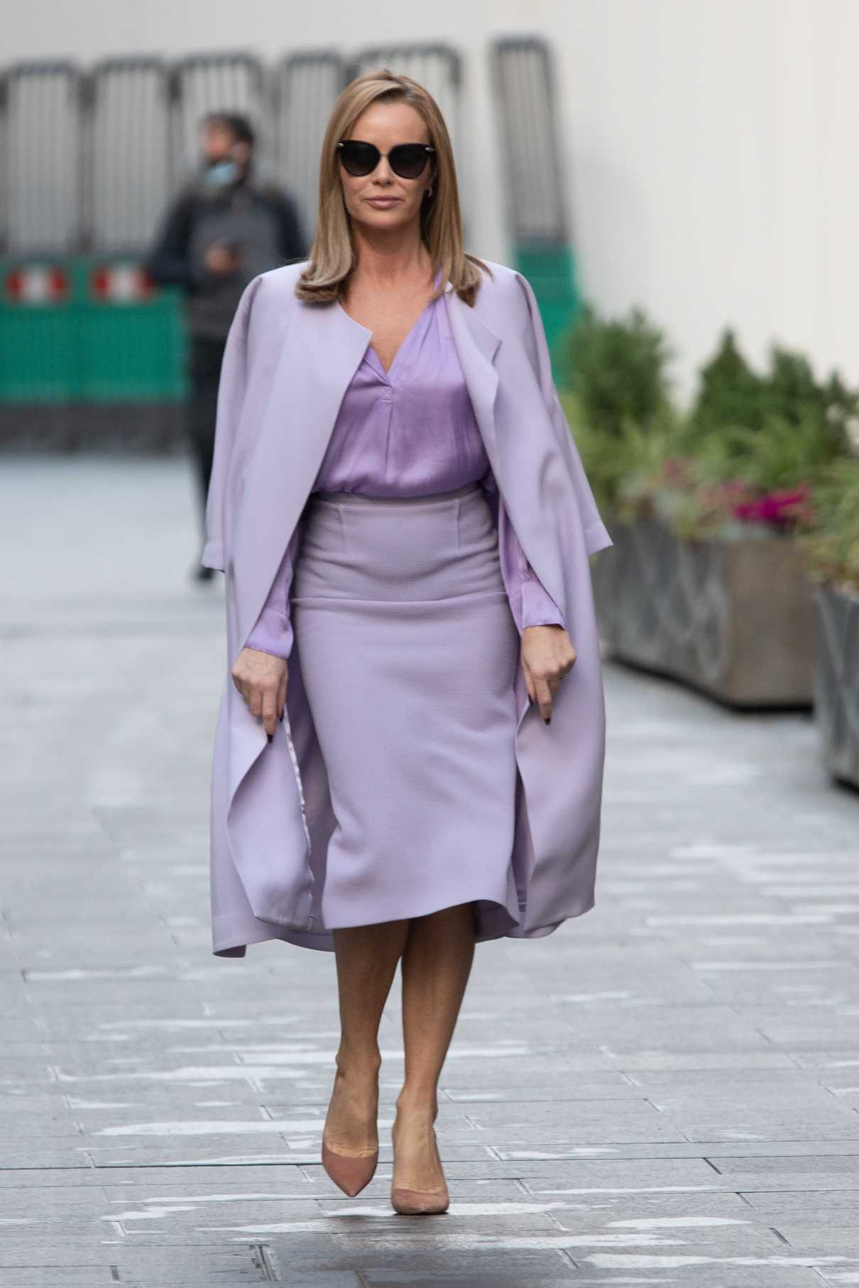 Amanda Holden in a Purple Outfit